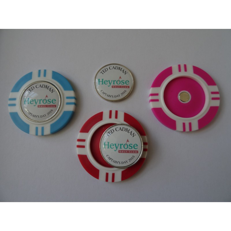 Golf Ball Magnetic Marker Poker Chip Made to Order