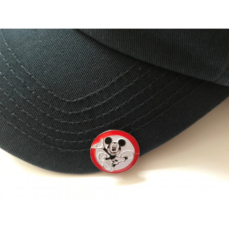 Golf Ball Marker Visor Hat Clip Mickey Mouse Red