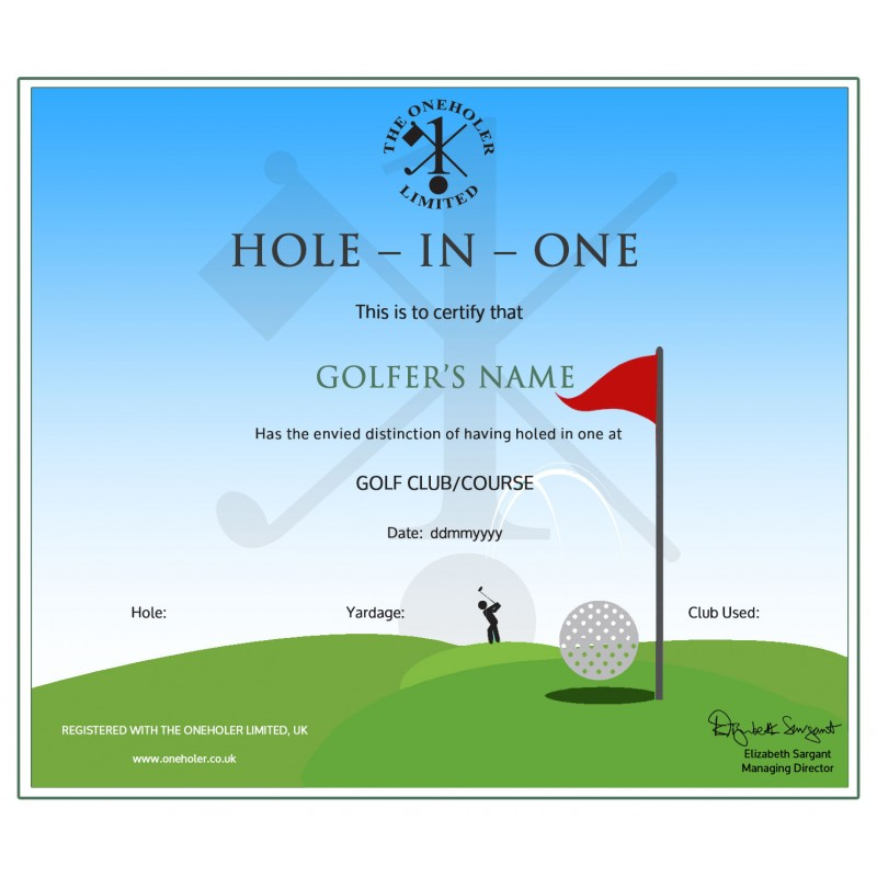 Printable Golf Gift Certificate Template Visualbrainsfo