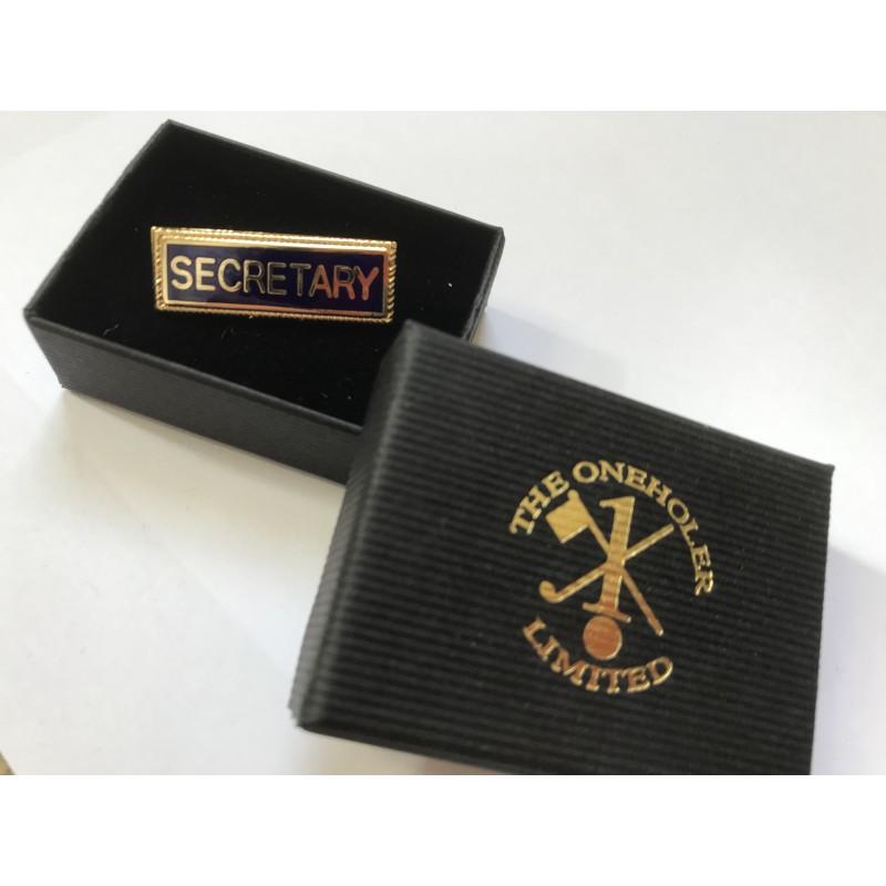 Secretary Lapel Badge Blue