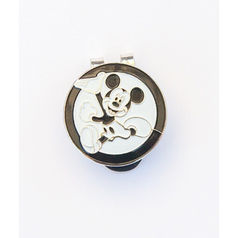 Golf Ball Marker on a Magnetic Visor Clip Mickey Mouse