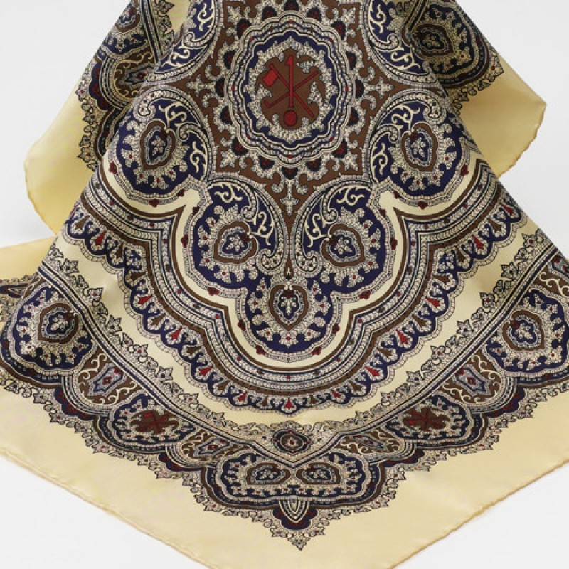 Hole in One/Oneholer Silk Paisley Scarf