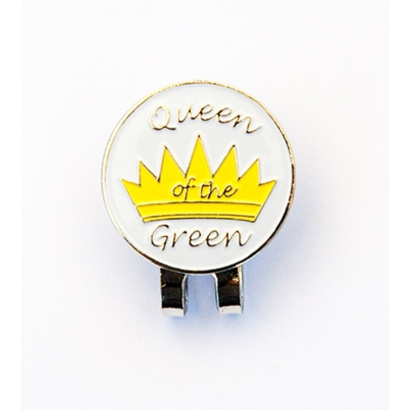 Golf Ball Marker Visor Hat Clip Queen of the Green