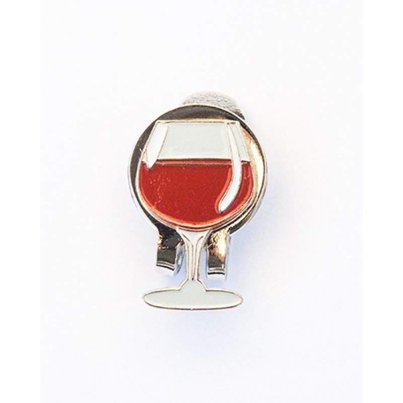 Golf Ball Marker Visor Clip Wine Glass