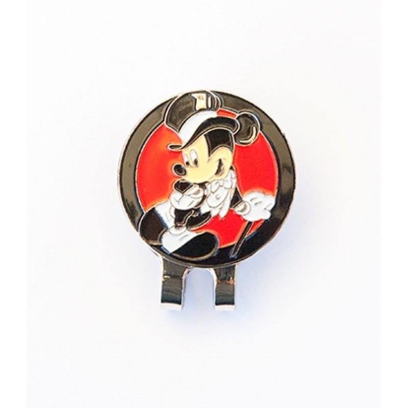 Golf Ball Marker Visor Hat Clip Top Hat Mickey Red